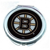 Boston Bruins Ladies Compact Mirror w/ Floral Design