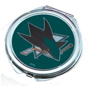 San Jose Sharks Ladies Compact Mirror w/ Floral Design