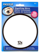 Swissco Suction Cup Mirror 12x Magnification, 12.7cm