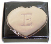 """Valentines Personal Heart Compact Makeup Mirror """"E"""""""
