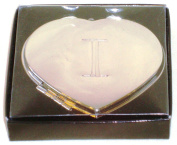 "Valentines Personal Heart Compact Makeup Mirror ""I"""
