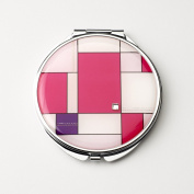 Pink Squares Compact Mirror