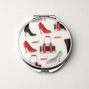 Shoe Shopping Compact Mirror