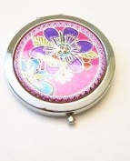 Flower with Ladybug Make-up Round Compact Mirror