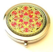 Hot Pink Flower Make-up Round Compact Mirror