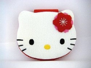 Super Cute Kitty Face Compact Mirror in Red