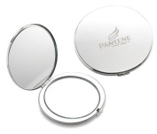 Aeropen International M-33S Silver Round Compact with Magnifying Mirror