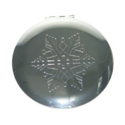 Snowflake Compact Mirror with Free Lip Balm.