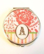 Monogram Flower Compact Mirror - Letter A