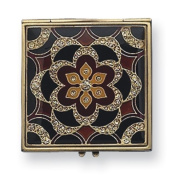 Gold-tone Enamled Compact Mirror