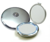Floxite Fl-10ccp-s 10x Compact 2-optical Dfp Quality Glass Mirrors, Silver