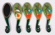 Wholesale Pack Handpainted Assorted Hummingbird Bird Handheld Mirror