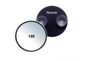 Rucci, Suction Cup Mirror, Black, 12X, 12.7cm Diameter