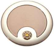 Brandon Femme M794 5X Normal View. Rhinestone Compact Mirror, Bronze