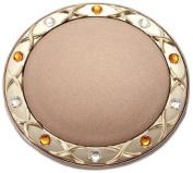 Brandon Femme M796 5X Normal View. Rhinestone Compact Mirror, Bronze