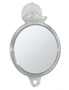 InterDesign Fog Away Suction Mirror, Clear