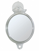 InterDesign Suction Fog Free Shower Shaving Mirror for Bathroom - Clear