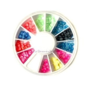 3D Fimo Bow Slices Decoration Nail Art Wheel