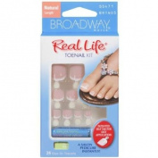 Broadway Nails Real Life Toenails Short Length True Pink 50471