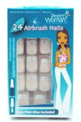 PRETTY WOMAN AIRBRUSH NAILS SALON #CPD551 WHITE DESIGN