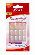 Kiss Feathlight Nail Kit, Short Length, Glue-On Nails, 52304