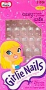 Little Fing'rs Girlie Nails Stick-On Nails, Silver Stars, 24 ct.
