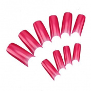 500pcs Hot Pink Colour French Acrylic UV Gel False Nail Art Design Tips DIY