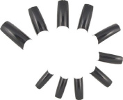 500 French Acrylic False Artificial Tips Nail Art -- Black