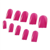 YKS 500 French Acrylic Artificial Full Cover False Nails Art Tips Rose Red