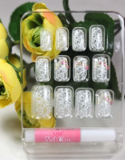 LIQI Salon quality NAIL New design Nail Art 12pcs white network false nail fake fingernails nail patch
