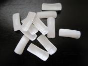 500 Half Cover Nail Tips - White Plus Bonus Glue