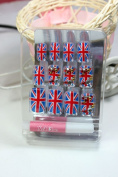GGSELL LIQI Salon quality NAIL New design Nail Art 12pcs UK flag false nail fake fingernails nail patch