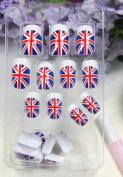 GGSELL TAC High quality New design Nail Art 24pcs UK flag false nail fake fingernails nail patch