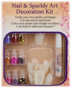 24-pc Plain Nails w/ 9 Glitter Deco Set & Glue