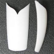 500 Pcs V Shape White Acrylic French Nail Art Tip
