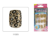 VIVACE Pretty Nails Pre-glued Nail Set 12pcs Gold Leopard 11323
