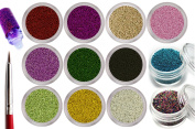 12 Colours 3D Mini Beads Balls For Amazing And Hot Caviar Nails With Extra Bonus
