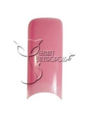 Pink Airbrushed French Nail Tips