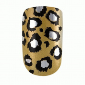 Dashing Diva Metallic Nails Leopard Gold