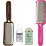 Microplane His and Hers Colossal Pedicure Rasps Set with Cuticle and Callus Eliminator
