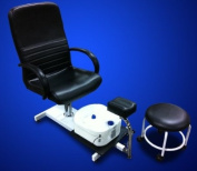 New MTN Pedicure Station Chair Foot Spa Salon Unit W/ Stool
