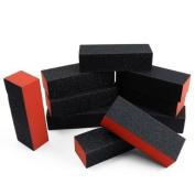 HongNuo 10pcs black nail art buffer sanding block files gel
