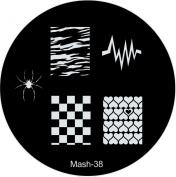 MASH Nail Art Stamp Stamping Image Plate No 38
