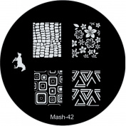 MASH Nail Art Stamp Stamping Image Plate No 42