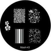 MASH Nail Art Stamp Stamping Image Plate No 43