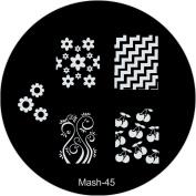 MASH Nail Art Stamp Stamping Image Plate No 45