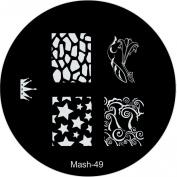 MASH Nail Art Stamp Stamping Image Plate No 49