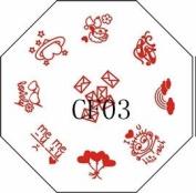 Nail Art Stamping Image Plate CF03