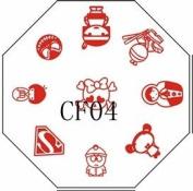 Nail Art Stamping Image Plate CF04