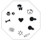 Nail Art Stamping Image Plate KD11